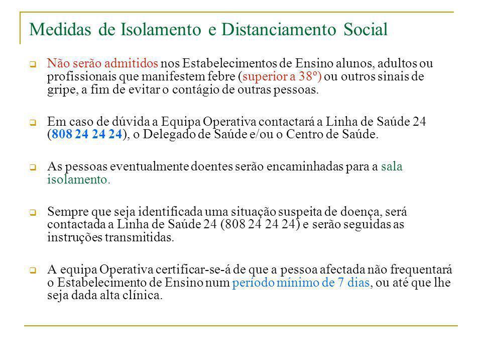 Medidas de Isolamento e Distanciamento Social
