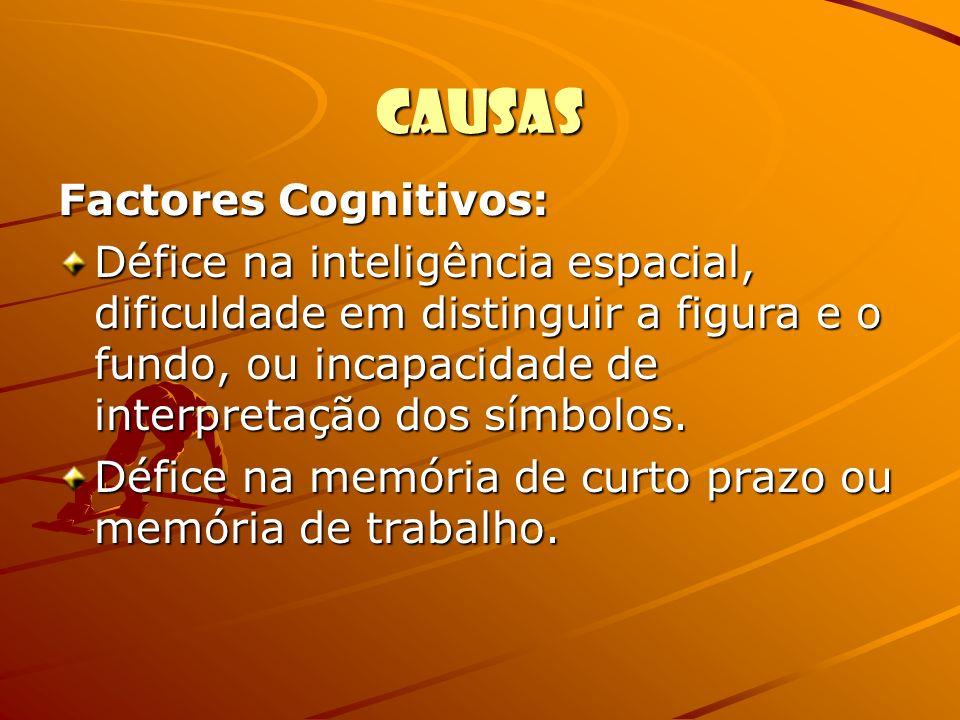 Causas Factores Cognitivos: