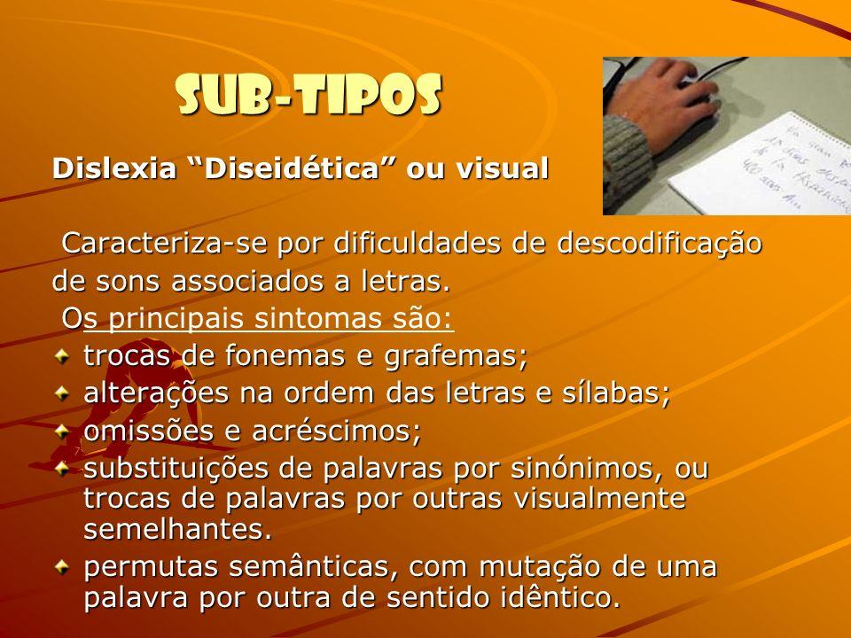 Sub-tipos Dislexia Diseidética ou visual