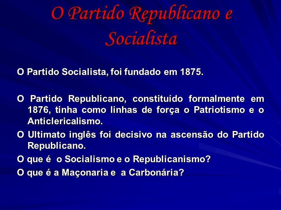 O Partido Republicano e Socialista