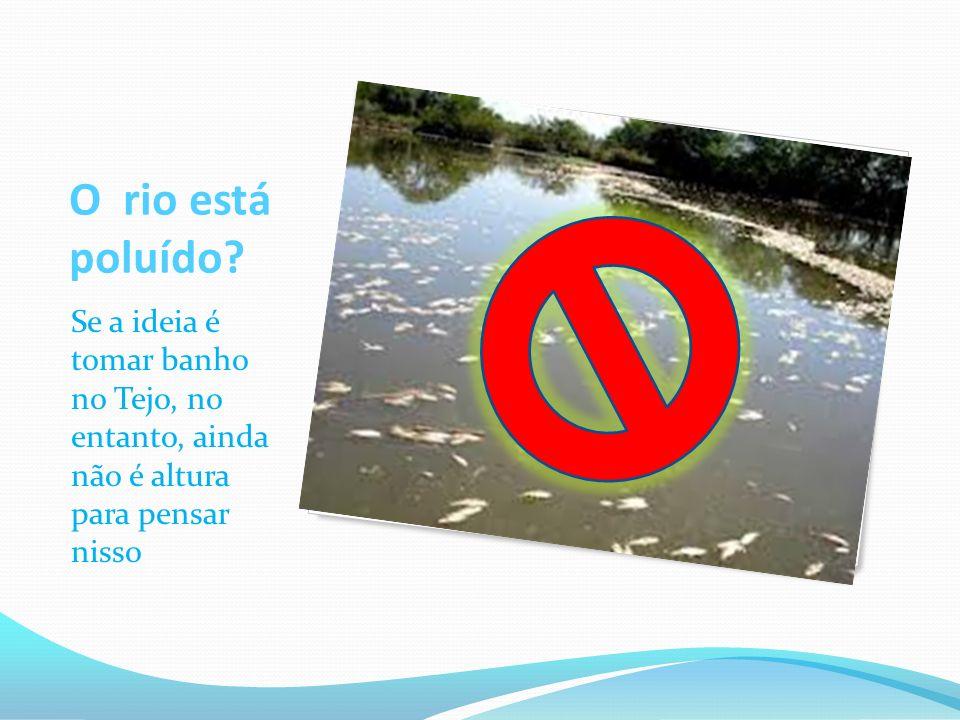 O rio está poluído.