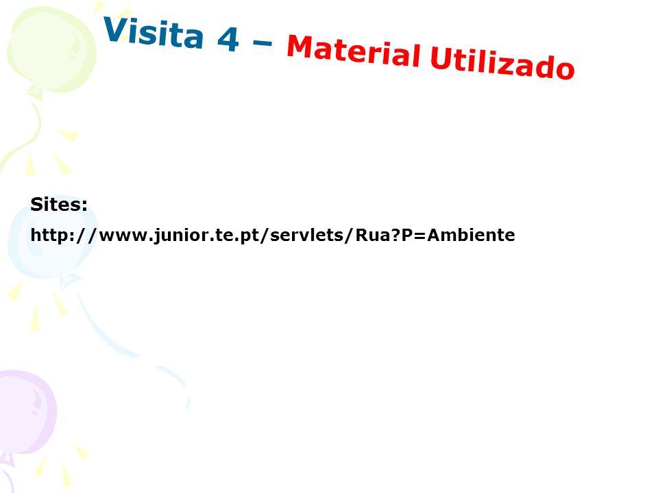 Visita 4 – Material Utilizado