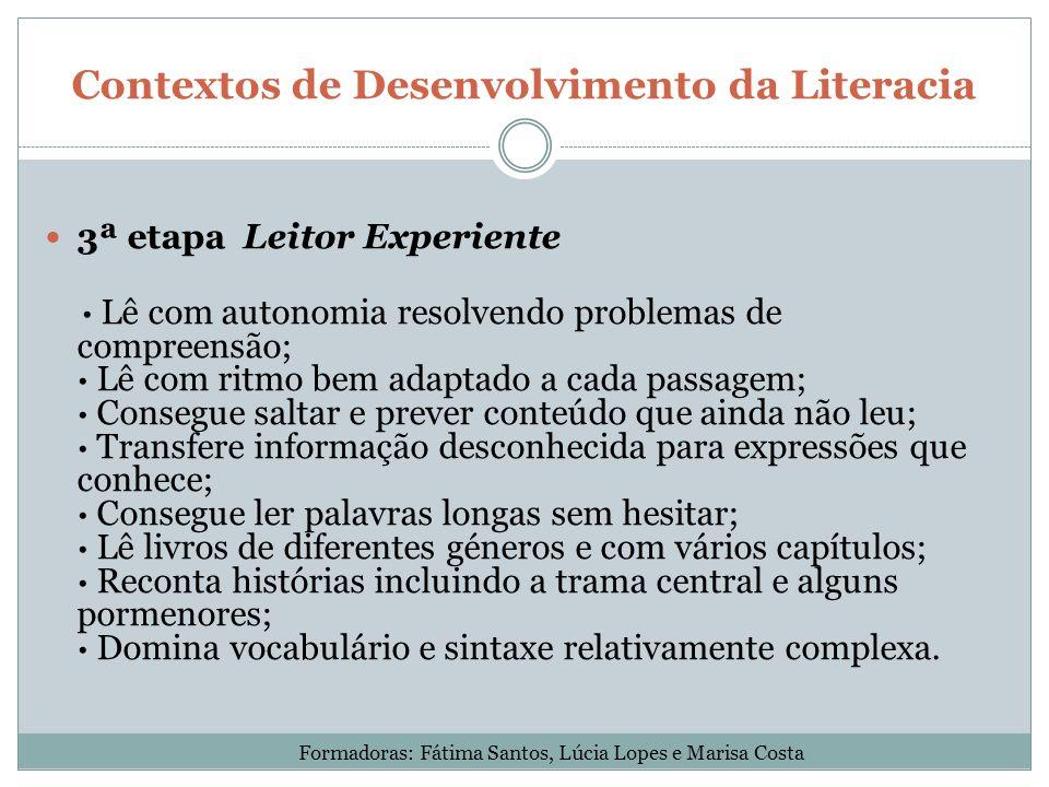 Contextos de Desenvolvimento da Literacia