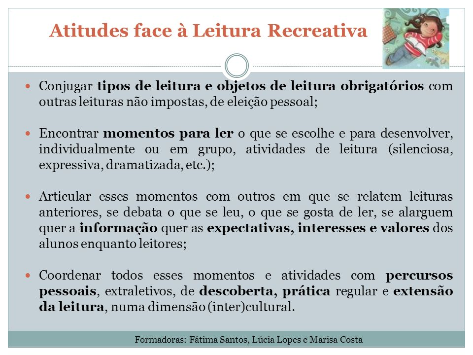Atitudes face à Leitura Recreativa