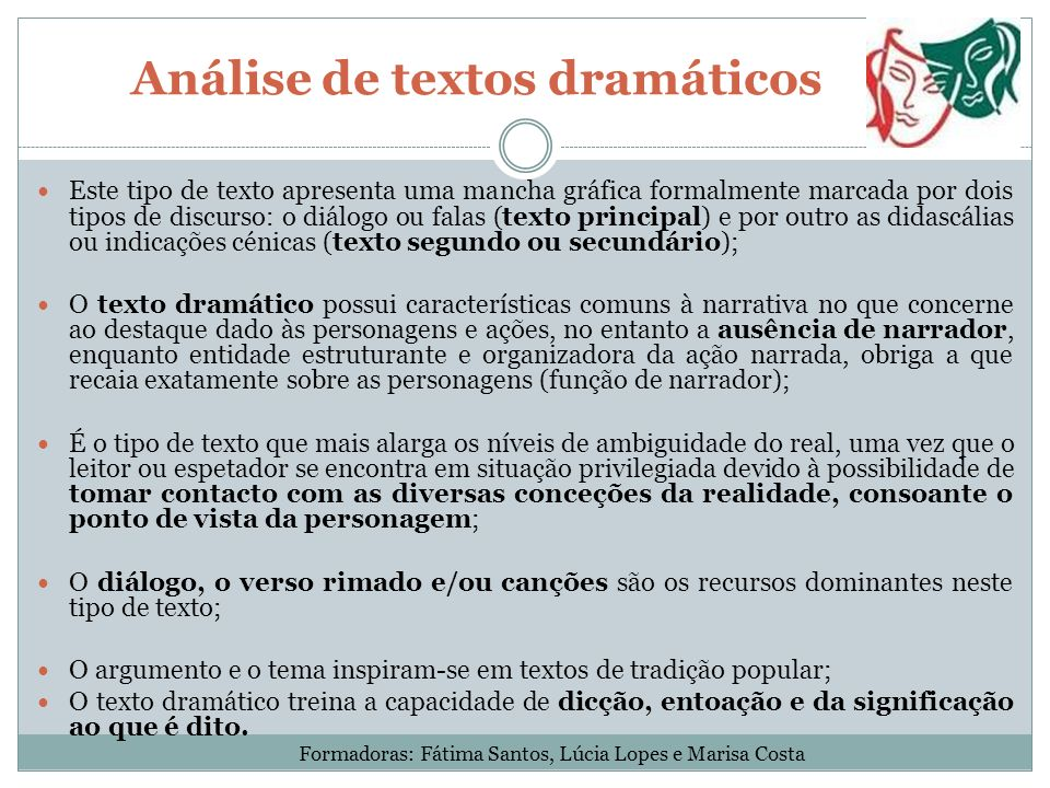 Análise de textos dramáticos