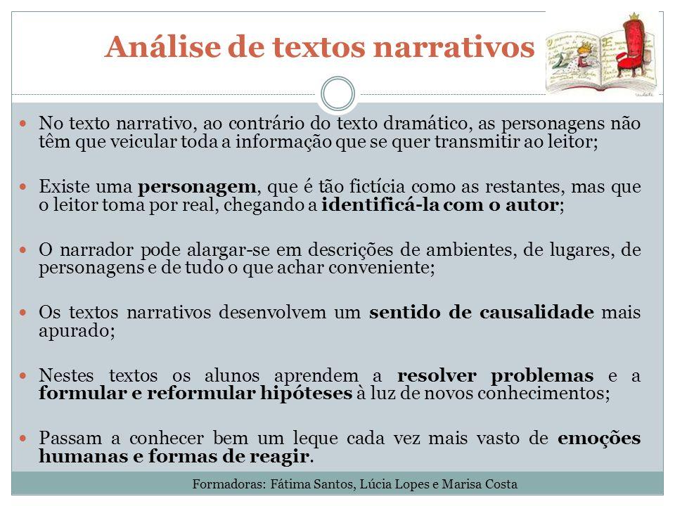 Análise de textos narrativos