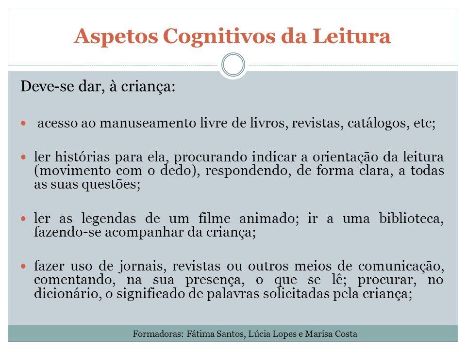 Aspetos Cognitivos da Leitura