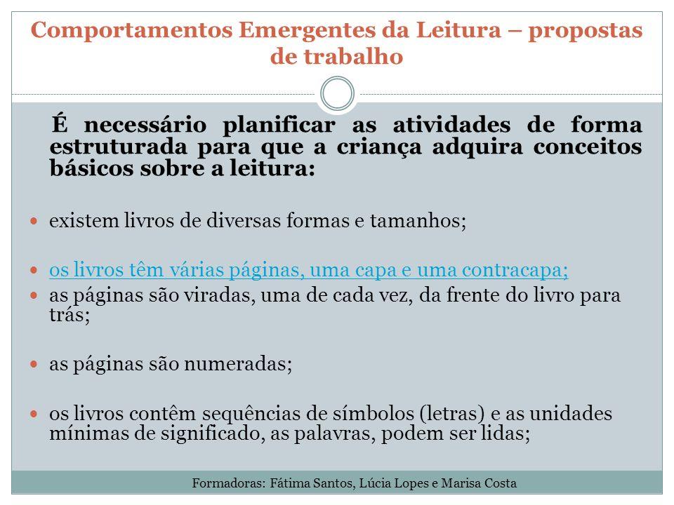 Comportamentos Emergentes da Leitura – propostas de trabalho