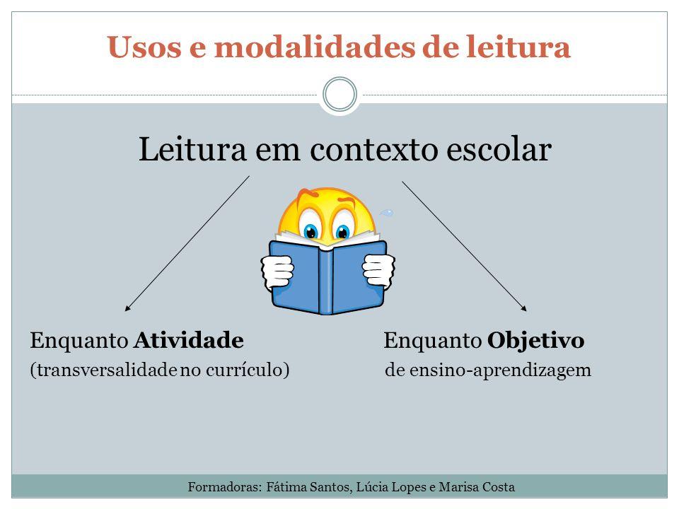 Usos e modalidades de leitura
