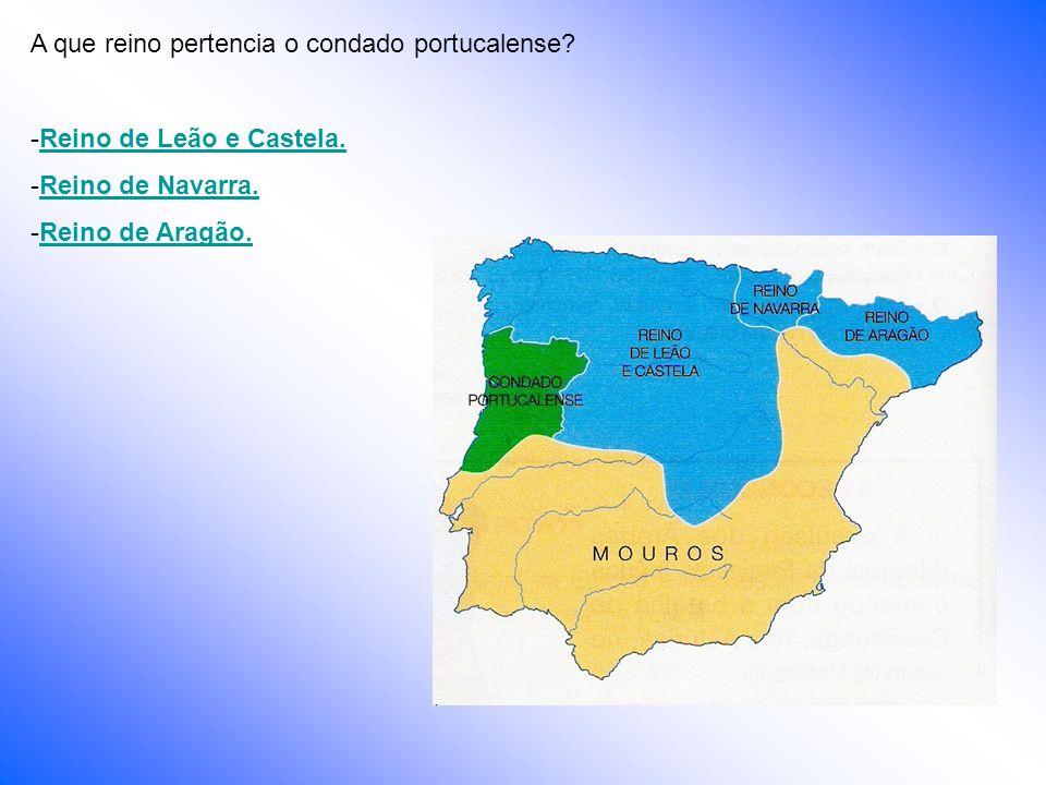 A que reino pertencia o condado portucalense