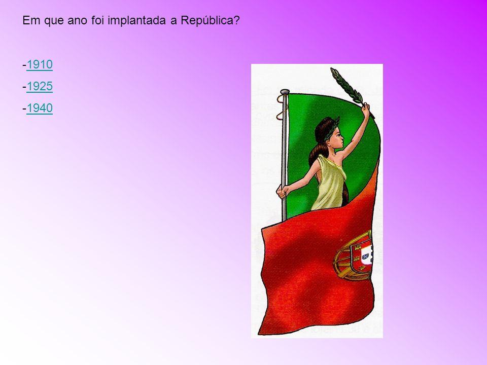 Em que ano foi implantada a República