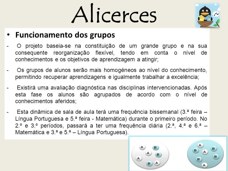 Alicerces Funcionamento dos grupos