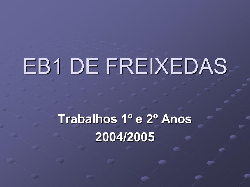 EB1 DE FREIXEDAS Trabalhos 1º e 2º Anos 2004/2005