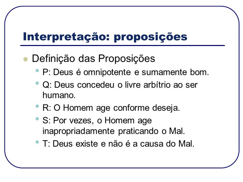 Interpretação: proposições