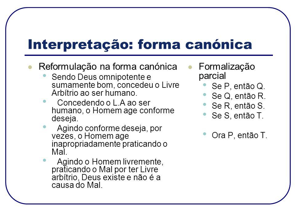 Interpretação: forma canónica