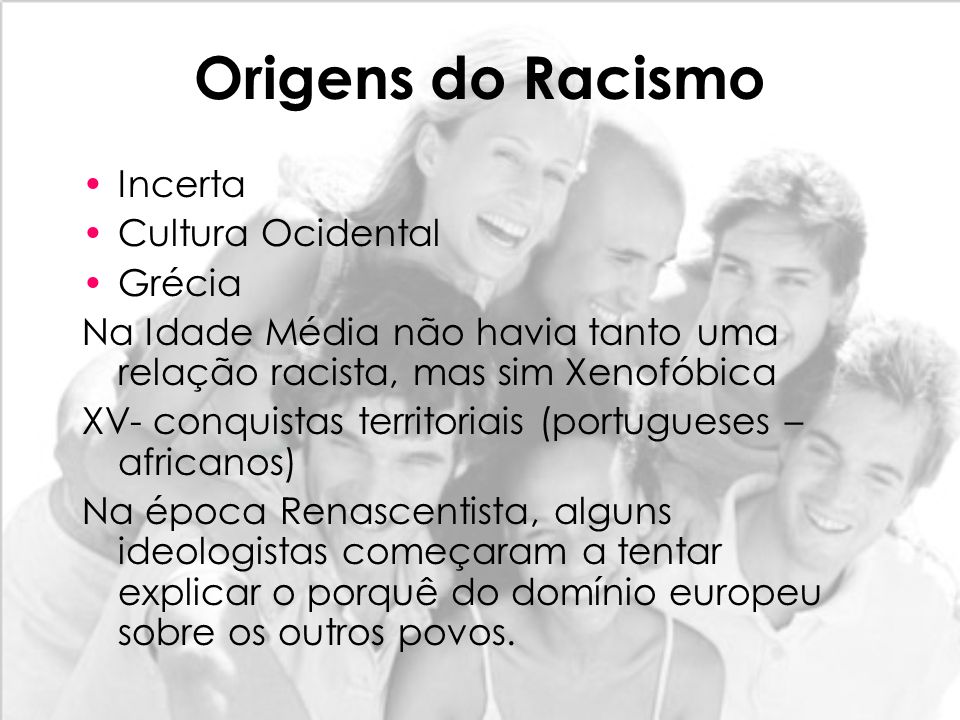 Origens do Racismo Incerta Cultura Ocidental Grécia