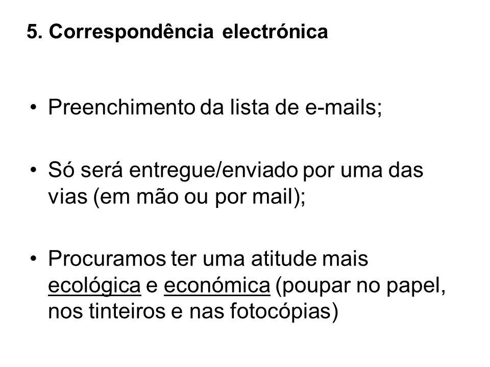 5. Correspondência electrónica