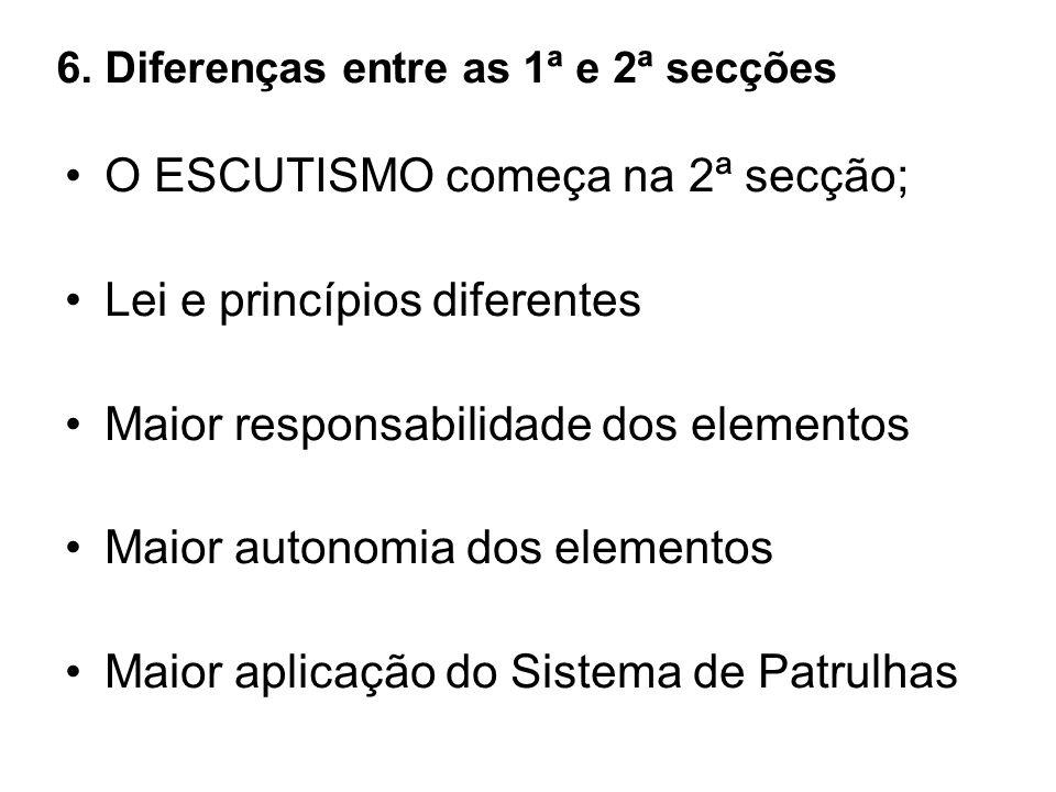 6. Diferenças entre as 1ª e 2ª secções