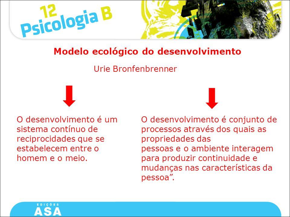 Modelo ecológico do desenvolvimento
