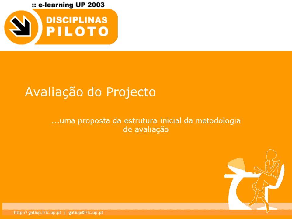 ...uma proposta da estrutura inicial da metodologia de avaliação