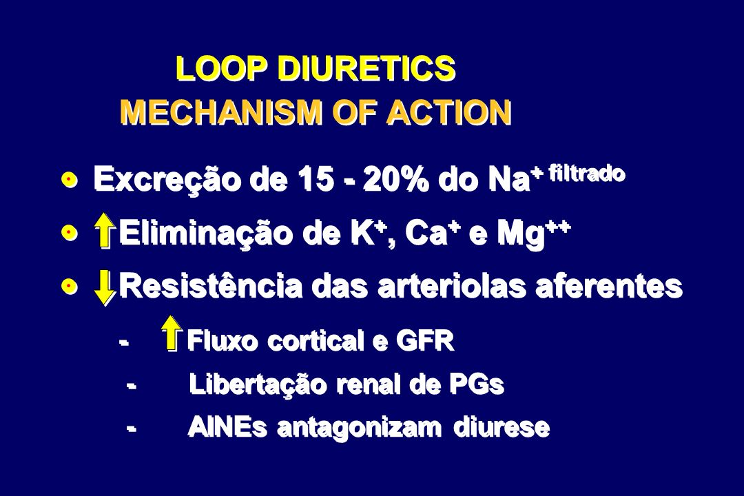 LOOP DIURETICS MECHANISM OF ACTION