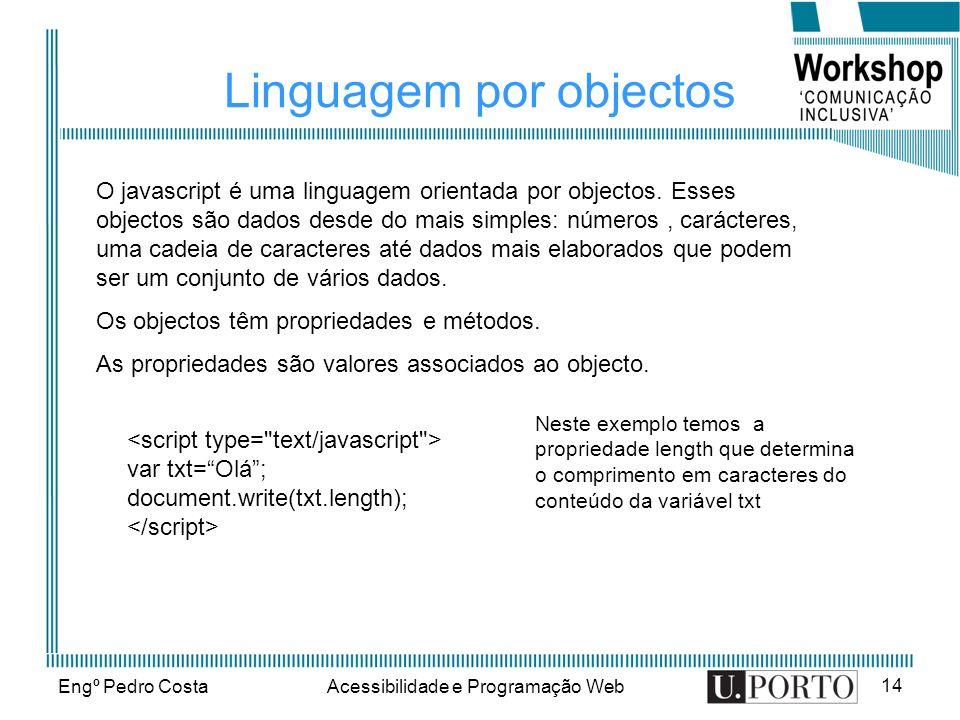 Linguagem por objectos