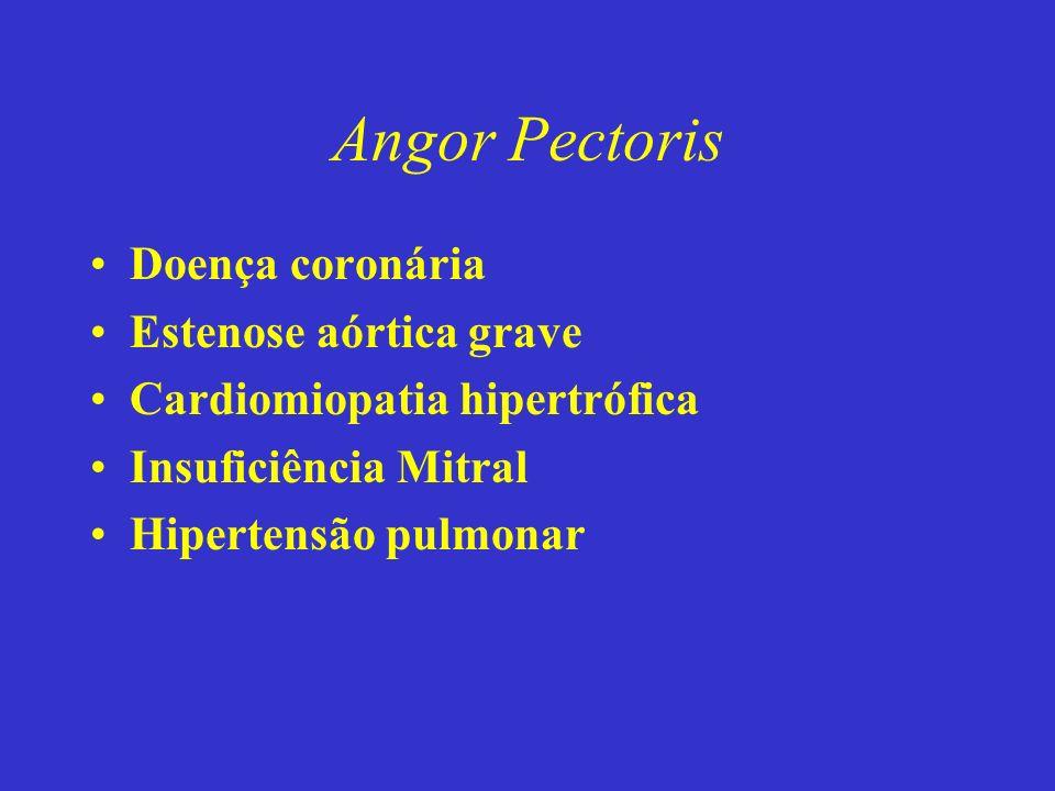 Angor Pectoris Doença coronária Estenose aórtica grave