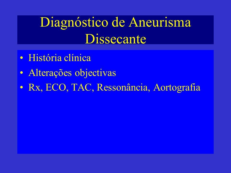 Diagnóstico de Aneurisma Dissecante