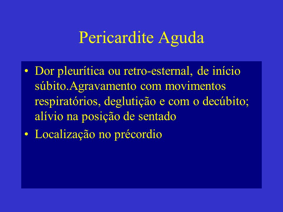 Pericardite Aguda