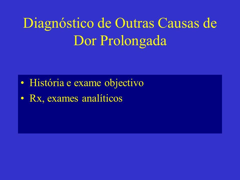 Diagnóstico de Outras Causas de Dor Prolongada
