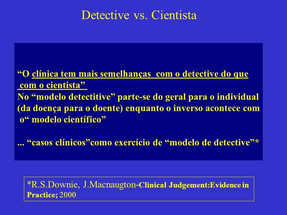 Detective vs. Cientista