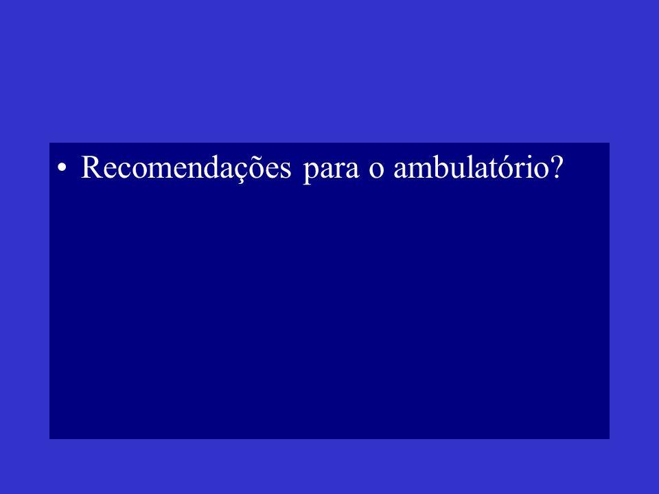 Recomendações para o ambulatório