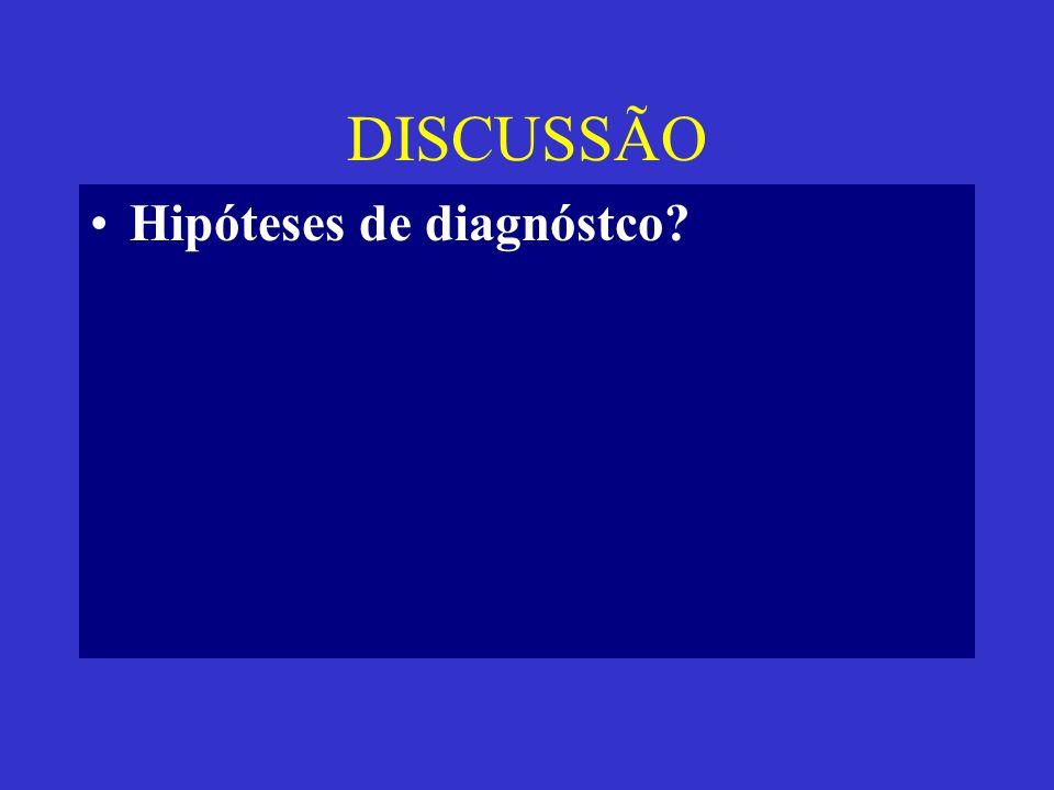 DISCUSSÃO Hipóteses de diagnóstco