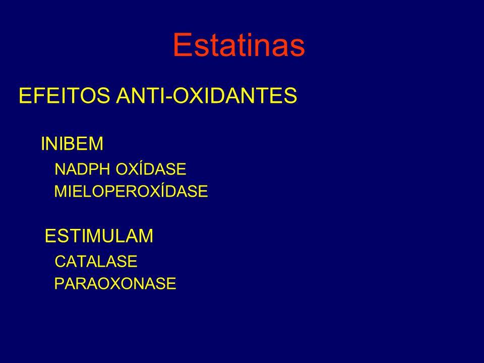 Estatinas EFEITOS ANTI-OXIDANTES NADPH OXÍDASE ESTIMULAM CATALASE