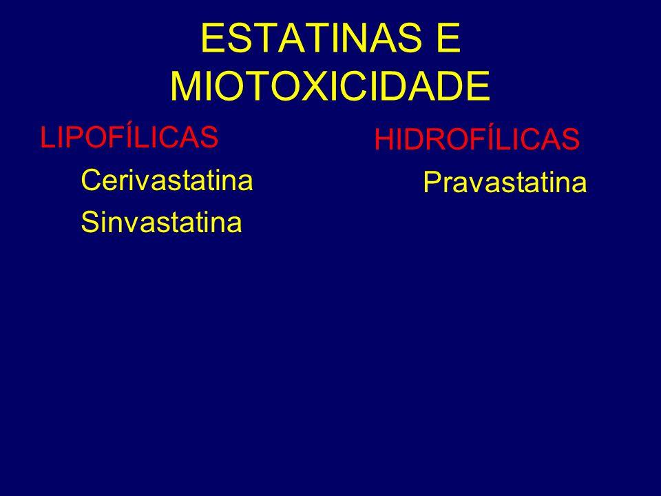 ESTATINAS E MIOTOXICIDADE