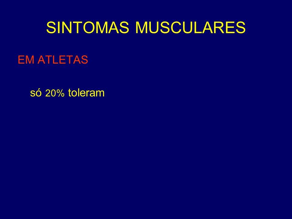 SINTOMAS MUSCULARES EM ATLETAS só 20% toleram