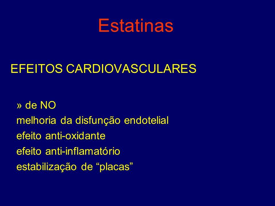 Estatinas EFEITOS CARDIOVASCULARES » de NO