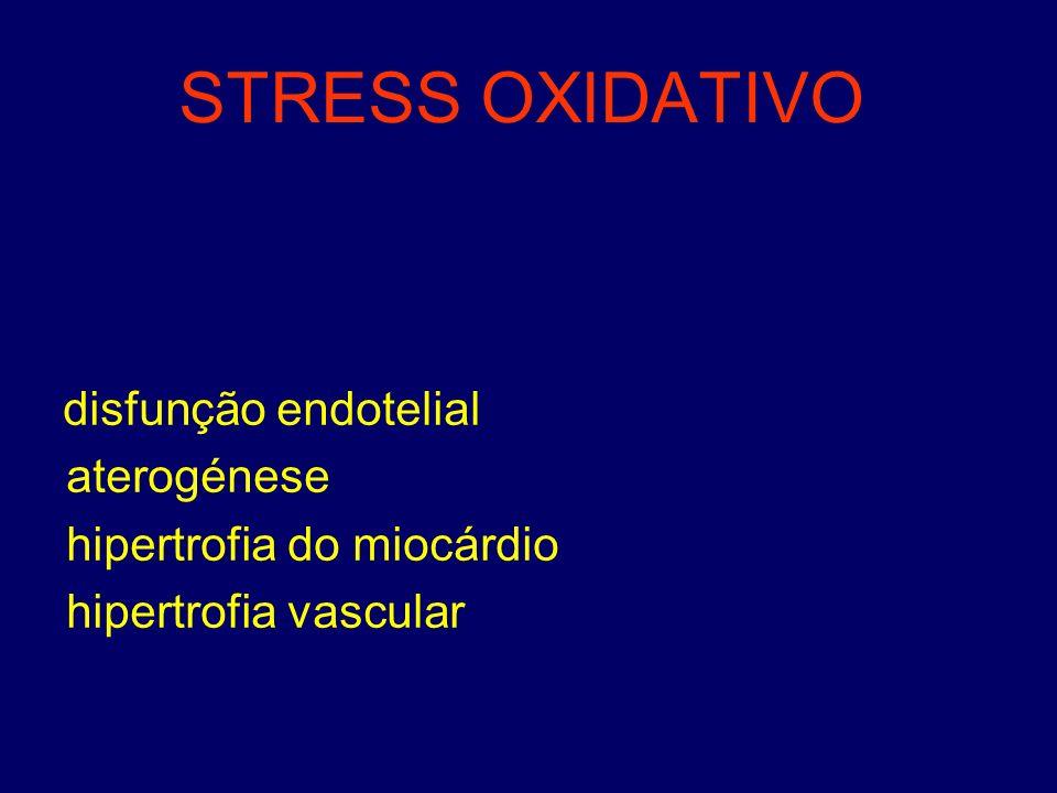 STRESS OXIDATIVO aterogénese hipertrofia do miocárdio