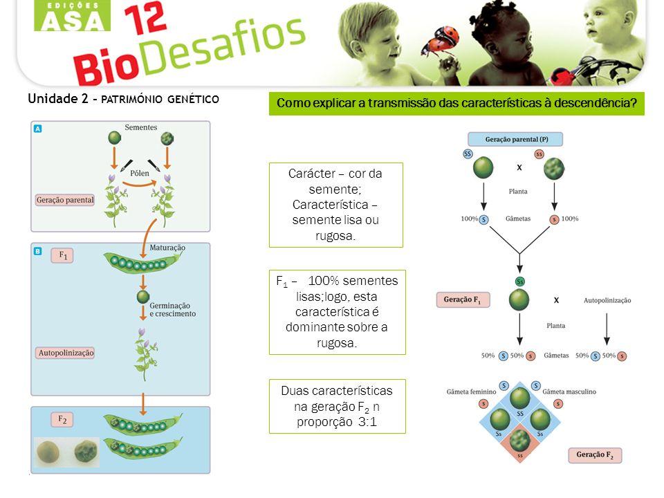 Como explicar a transmissão das características à descendência