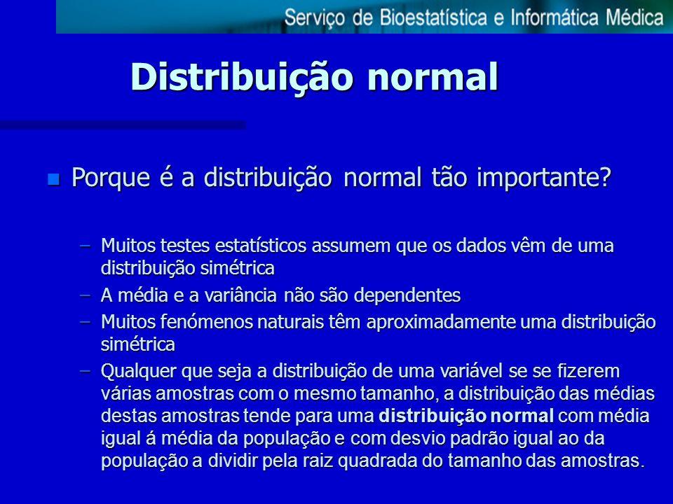 Distribuição normal Porque é a distribuição normal tão importante