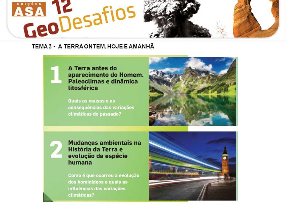 TEMA 3 - A TERRA ONTEM, HOJE E AMANHÃ