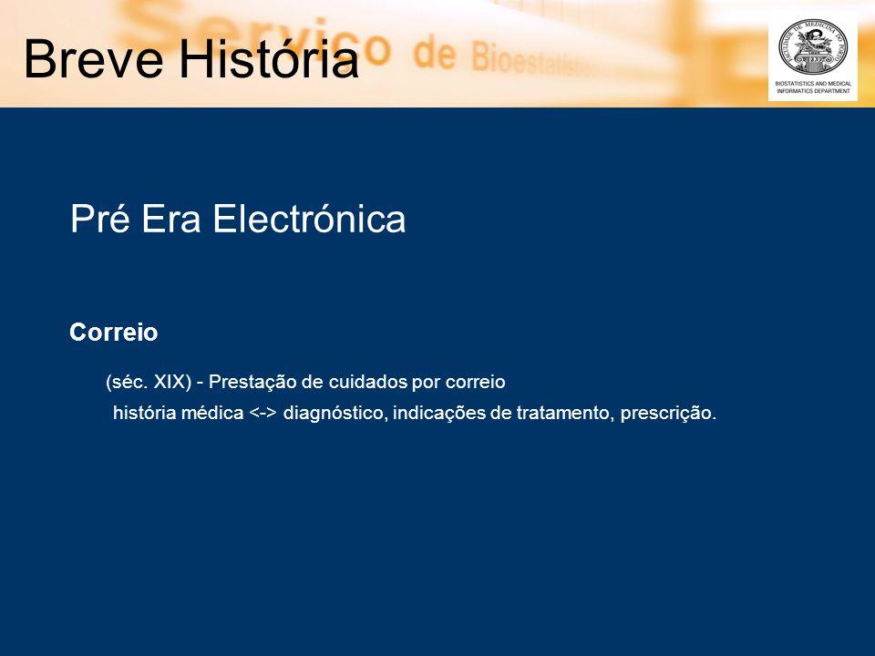 Breve História Pré Era Electrónica