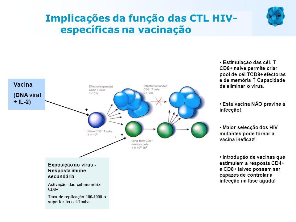 Implicações da função das CTL HIV-específicas na vacinação