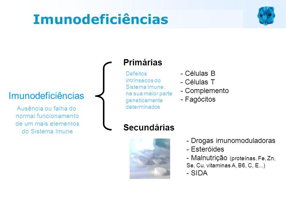 Imunodeficiências Primárias Secundárias Imunodeficiências - Células B
