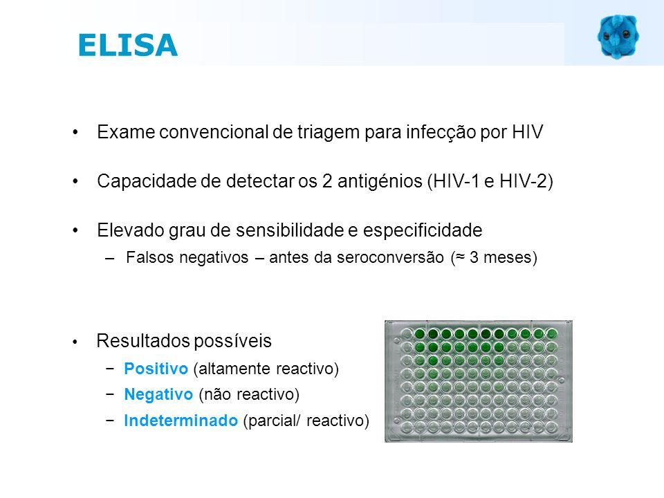 Exame convencional de triagem para infecção por HIV