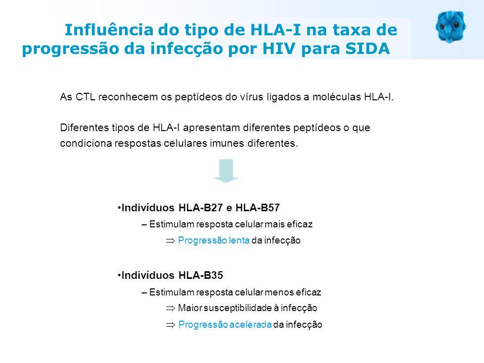 Influência do tipo de HLA-I na taxa de progressão da infecção por HIV para SIDA