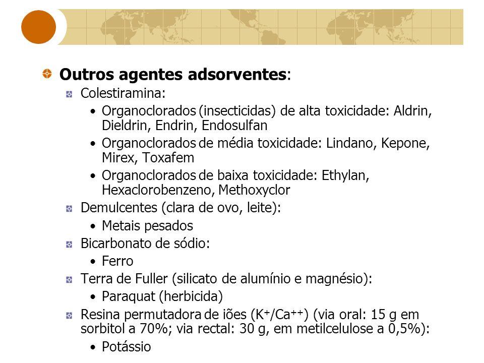 Outros agentes adsorventes: