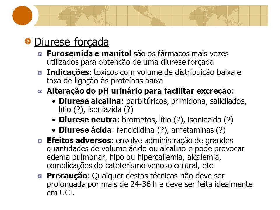 Diurese forçada Furosemida e manitol são os fármacos mais vezes utilizados para obtenção de uma diurese forçada.