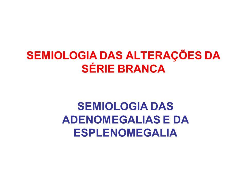 SEMIOLOGIA DAS ALTERAÇÕES DA SÉRIE BRANCA