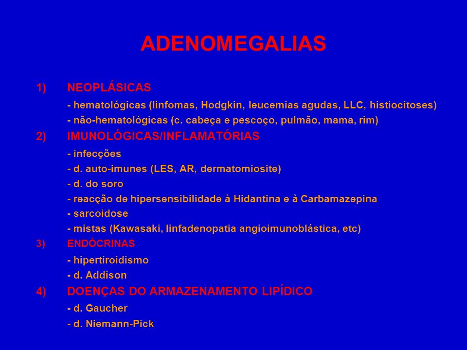 ADENOMEGALIAS 1) NEOPLÁSICAS